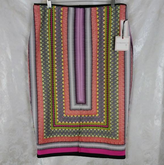 Bisou Bisou Dresses & Skirts - Bisou Bisou Scarf Print Pencil Skirt